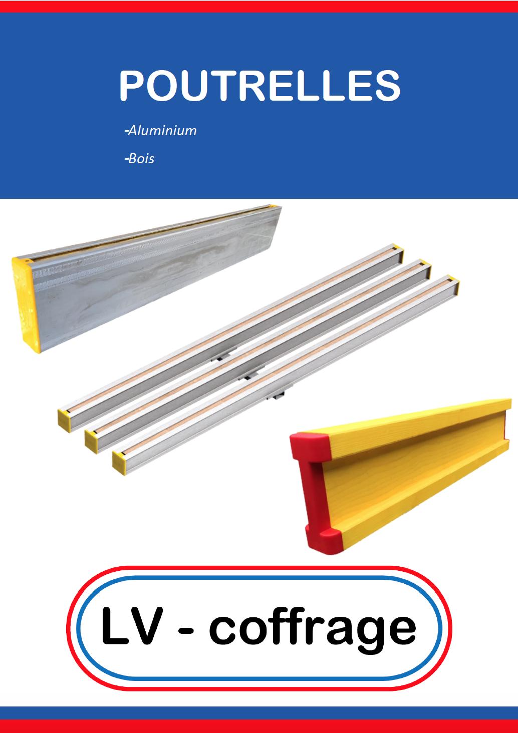 poutrelles aluminium et bois